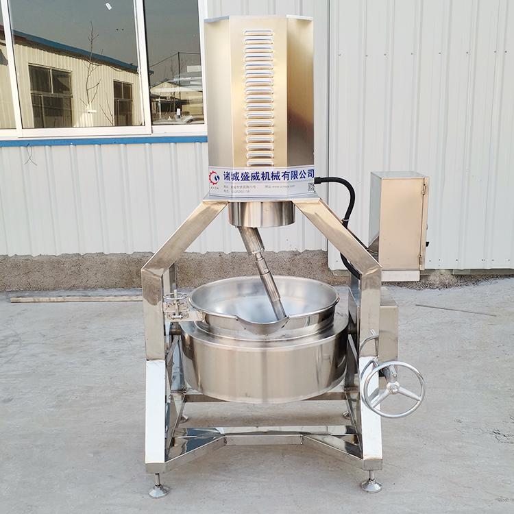 蒸汽半自动搅拌炒锅